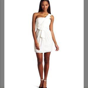 BCBGMaxzaria White one shoulder dress